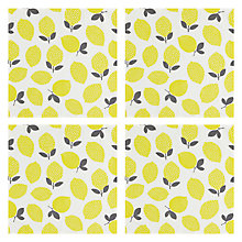 Buy John Lewis Citrus Lemons Napkin, Set of 4 Online at johnlewis.com