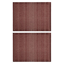 Buy John Lewis Kainoosh Woven Placemat, Set of 2, Red Online at johnlewis.com