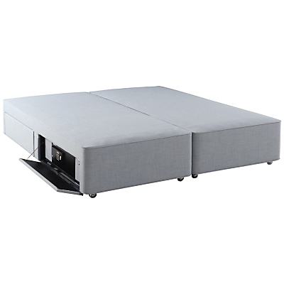 Hypnos Firm Edge 4 Drawer Divan Storage Bed with Laptop Safe, Super King Size