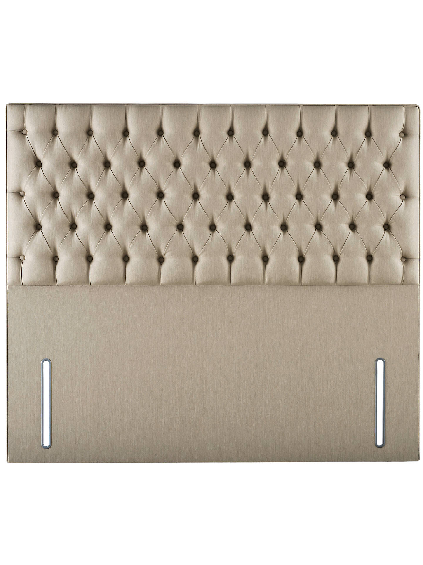 Hypnos Eleanor Full Depth Headboard Double Herringbone Fawn At Johnlewis Com