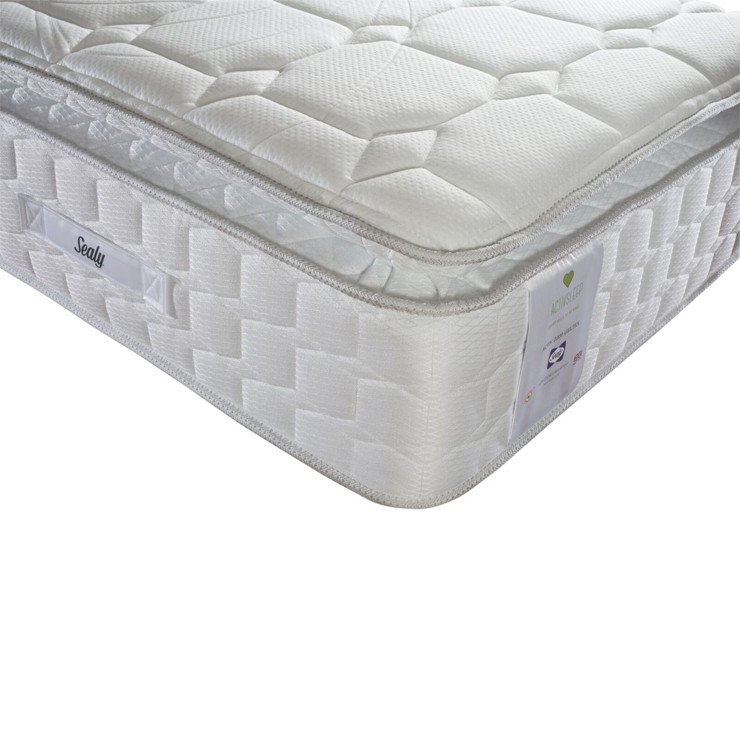 Sealy Sealy Activsleep Geltex 2200 Pocket Spring Mattress, Medium, Single
