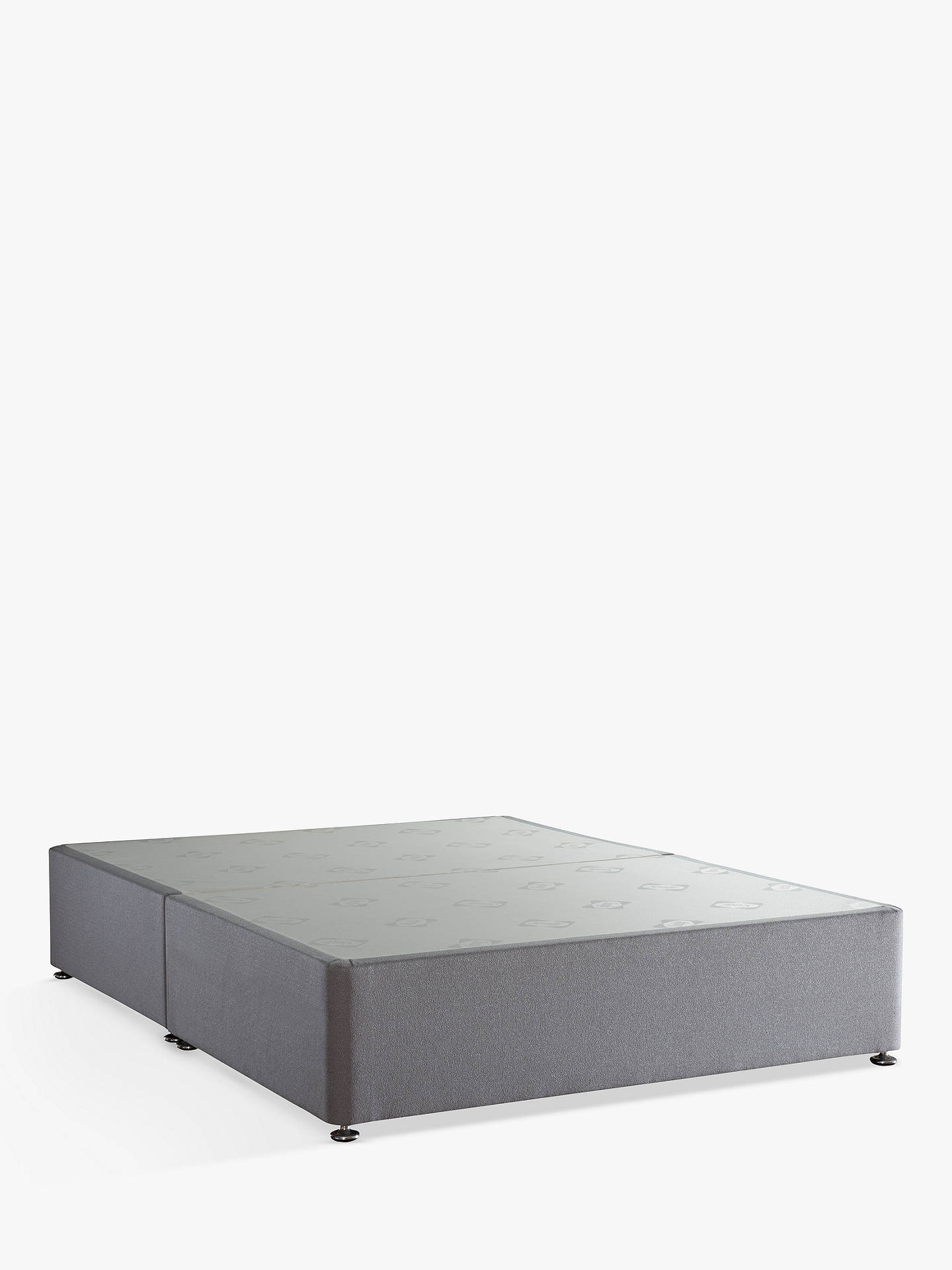 Buy Sealy Posturepedic Divan Base, Super King Size, Pewter Online at johnlewis.com