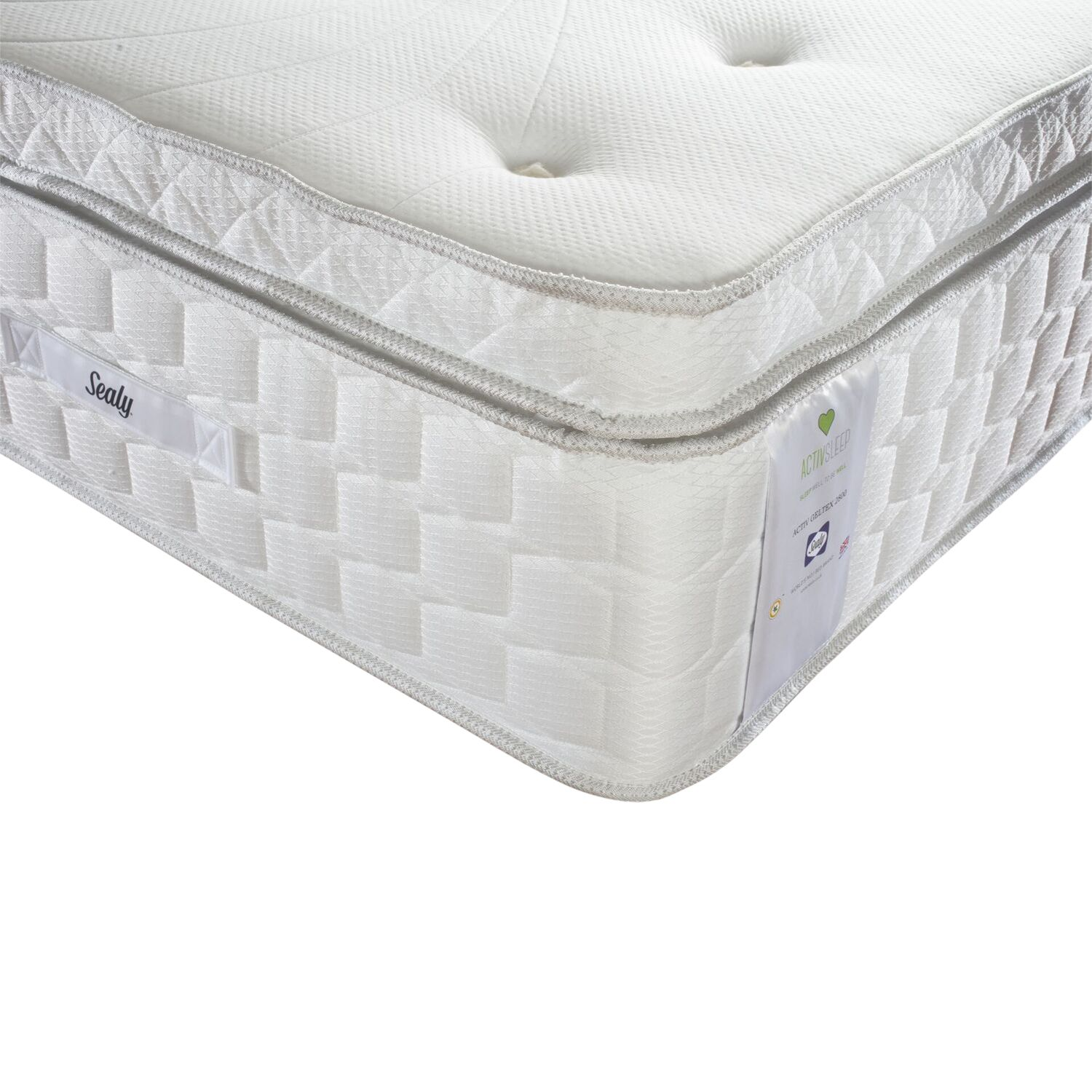 Sealy Sealy Activsleep Geltex 2800 Box Top Pocket Spring, Medium, Single