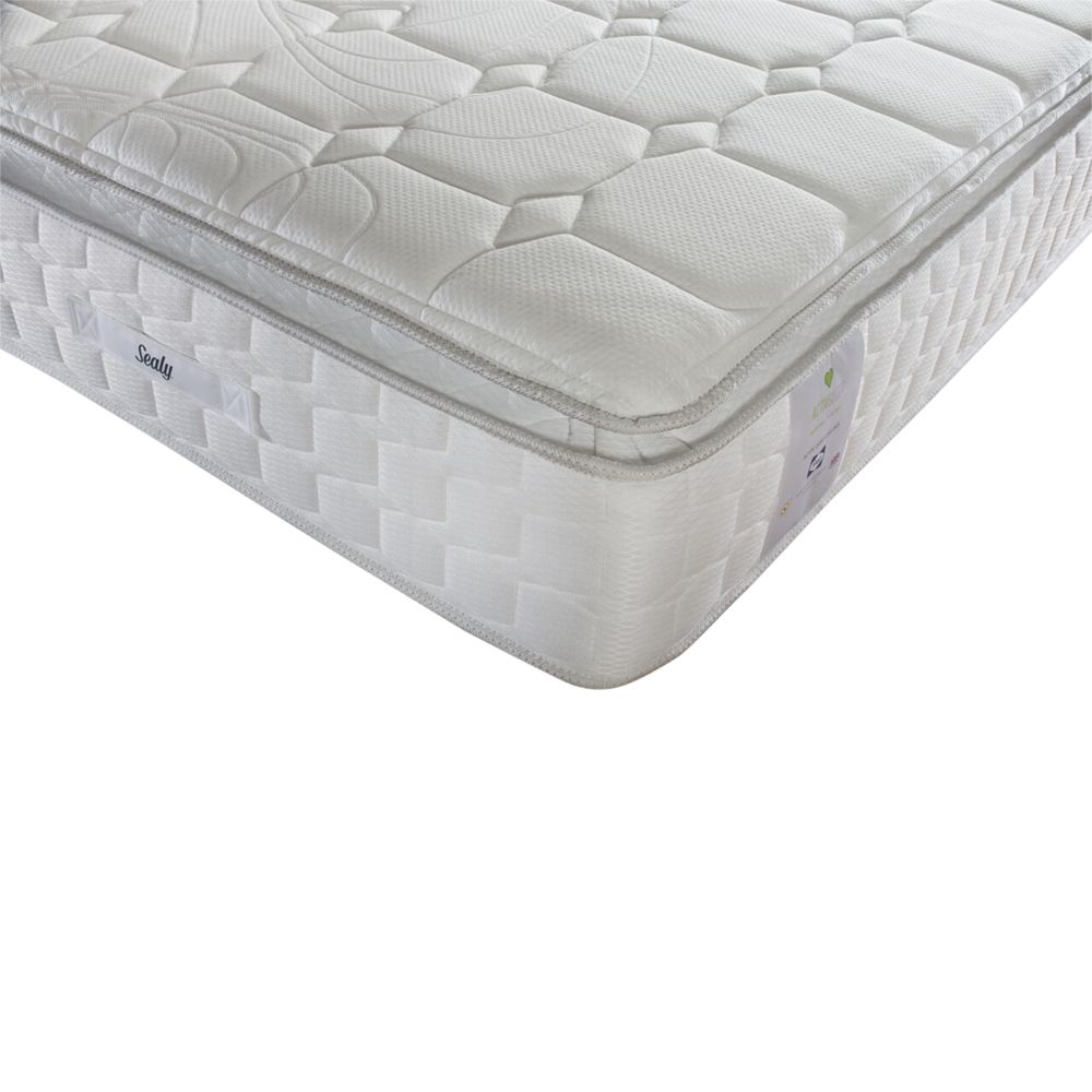 Sealy Sealy Activsleep Geltex 2200 Pocket Spring Mattress, Medium, Super King Size