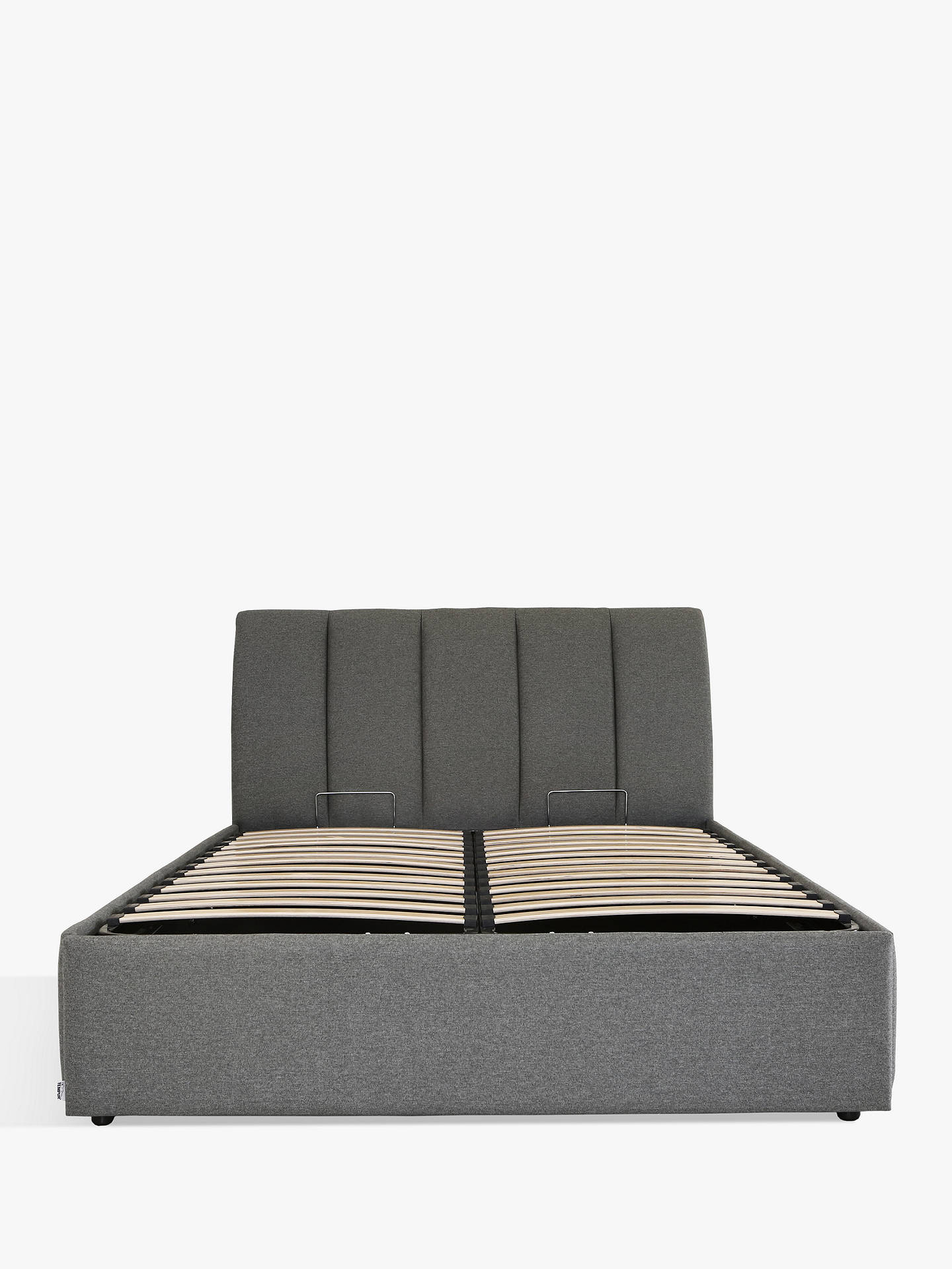 Awesome Tempur Bayonne Ottoman Divan Storage Bed King Size Tweed Grey Creativecarmelina Interior Chair Design Creativecarmelinacom