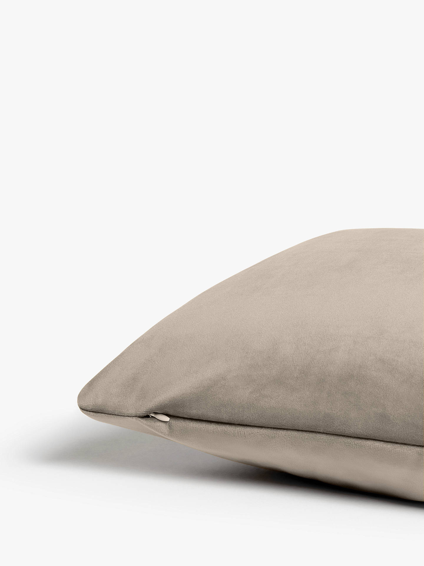 Buy Rectangular Stretch Scatter Cushion by Loaf at John Lewis, Clever Velvet Smokey Grey Online at johnlewis.com