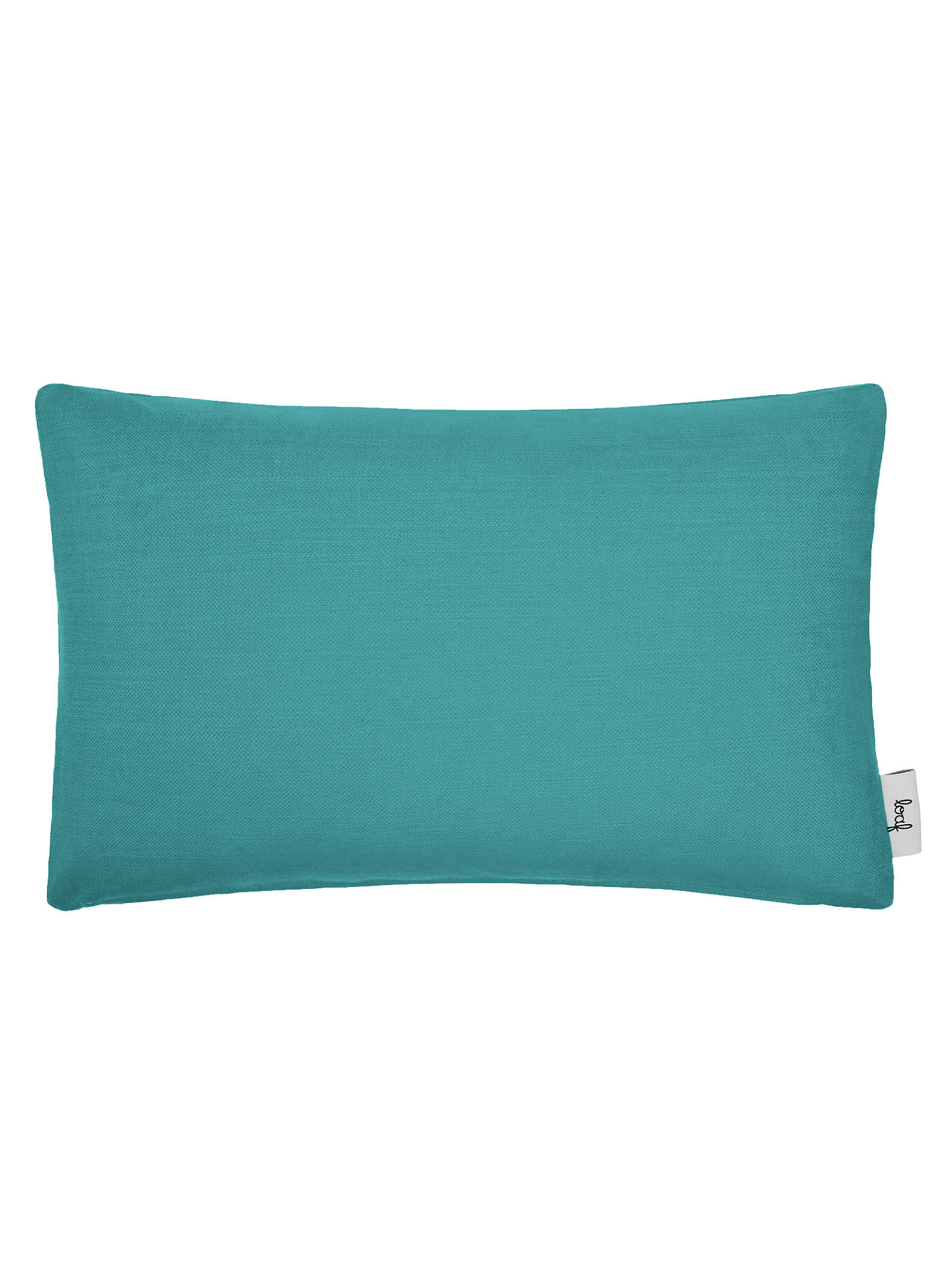 Buy Rectangular Stretch Scatter Cushion by Loaf at John Lewis, Brushed Cotton Peacock Online at johnlewis.com
