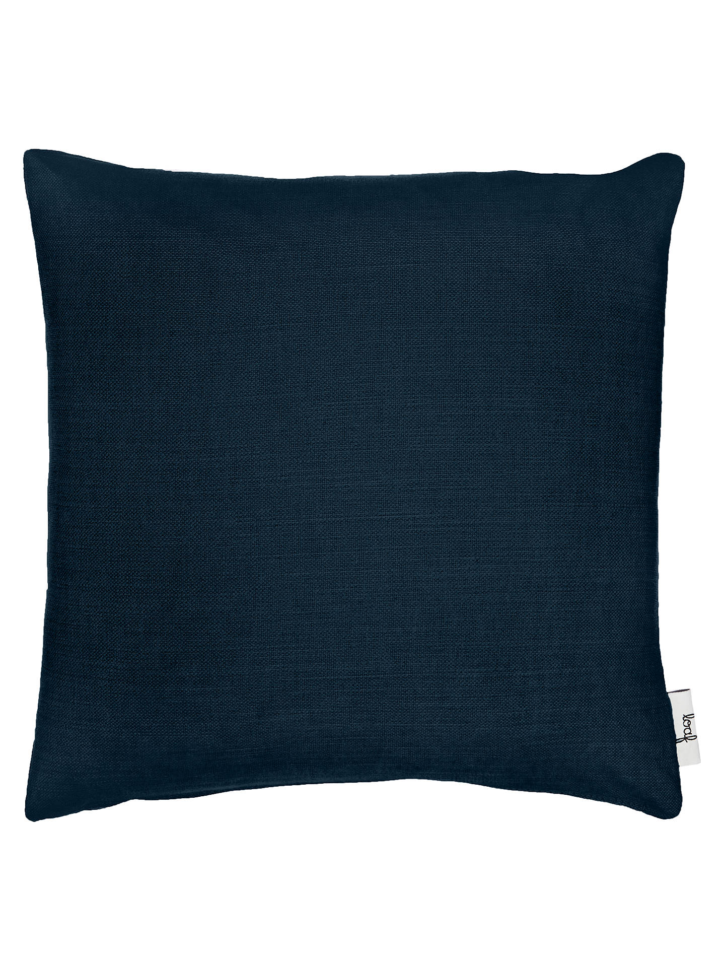 Buy Square Scatter Cushion by Loaf at John Lewis, Brushed Cotton Navy Online at johnlewis.com