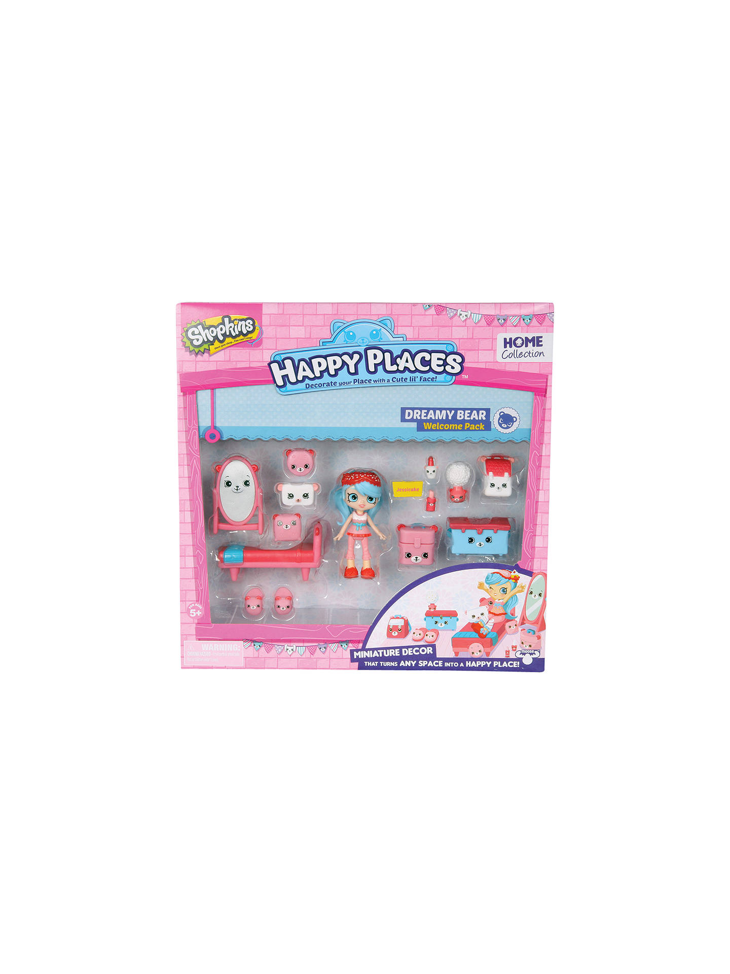 Shopkins happy places dreamy bear welcome pack at john - John lewis shopkins ...