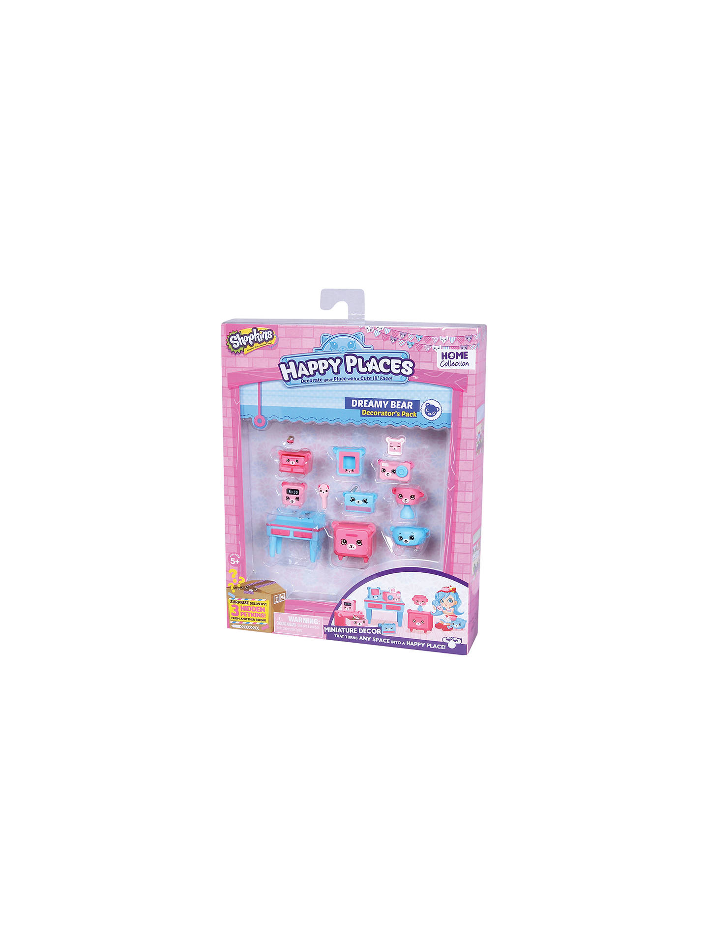 Shopkins Happy Places Dreamy Bear Bedroom Decorator Pack At John Lewis Partners