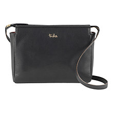 Buy Tula Alpine Originals Leather Small Across Body Bag, Black Online at johnlewis.com