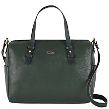Buy Tula Alpine Originals Leather Medium Grab Bag, Green Online at johnlewis.com