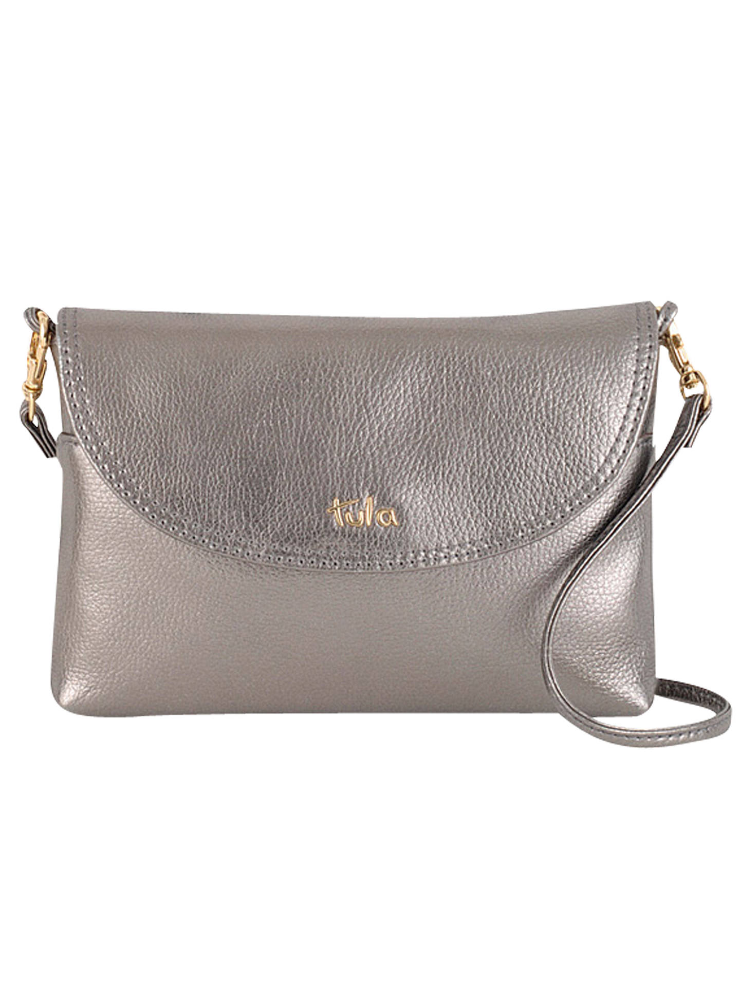 b361cafee1 Buy Tula Party Leather Across Body Bag, Silver Online at johnlewis.com ...