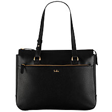 Buy Tula Rye Leather Tote Bag, Black Online at johnlewis.com