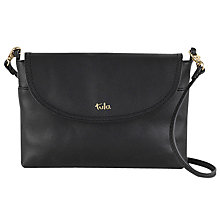 Buy Tula Party Small Leather Across Body Flap Bag, Black Online at johnlewis.com