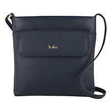 Buy Tula Nappa Originals Leather Medium Across Body Bag, Navy Online at johnlewis.com