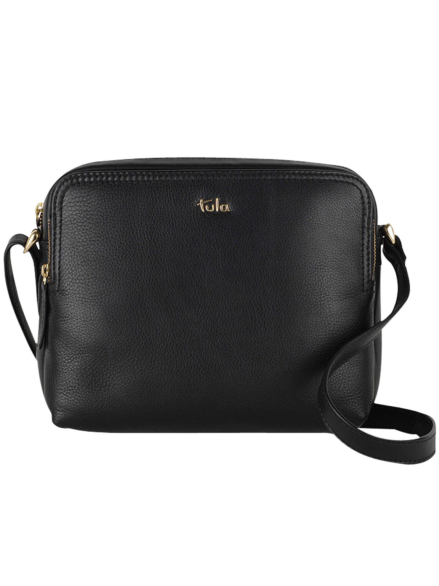 8fdd00b112 Buy Tula Nappa Original Leather Medium Cross Body Bag, Black Online at  johnlewis.com ...