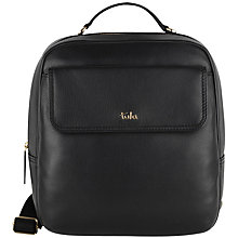 Buy Tula Nappa Originals Leather Backpack, Black Online at johnlewis.com