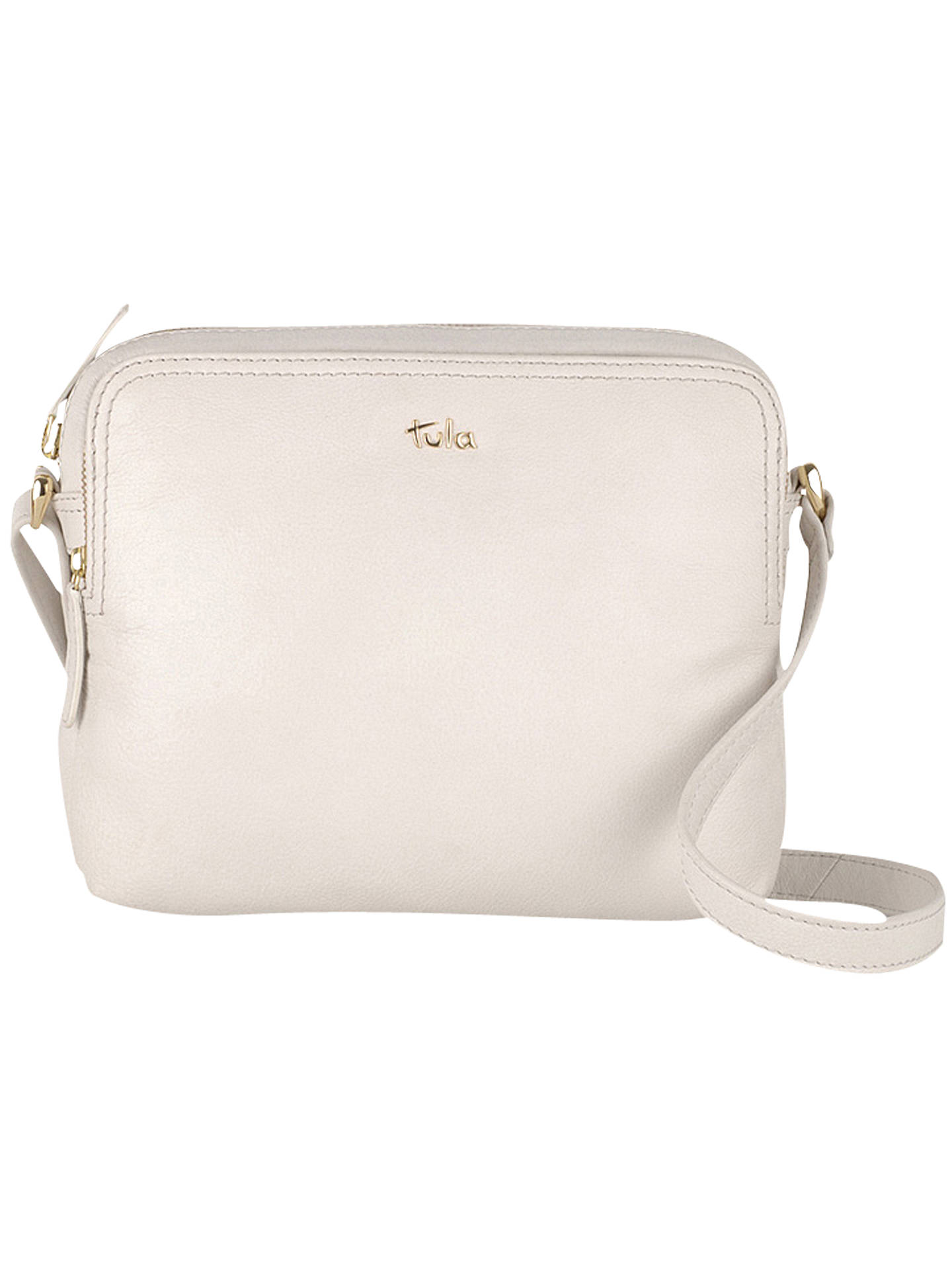 0d497b024b0 BuyTula Nappa Original Leather Medium Cross Body Bag, Ivory Online at  johnlewis.com ...