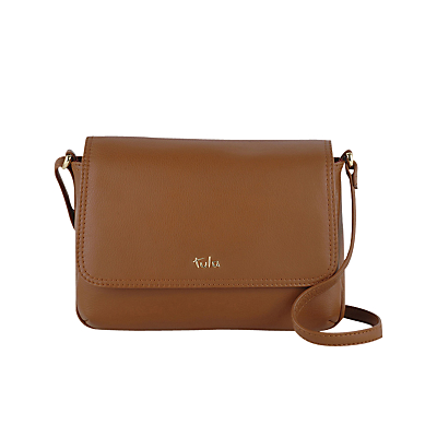 Tula Nappa Small Flapover Shoulder Bag, Tan