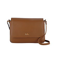 Buy Tula Nappa Small Flapover Shoulder Bag, Tan Online at johnlewis.com
