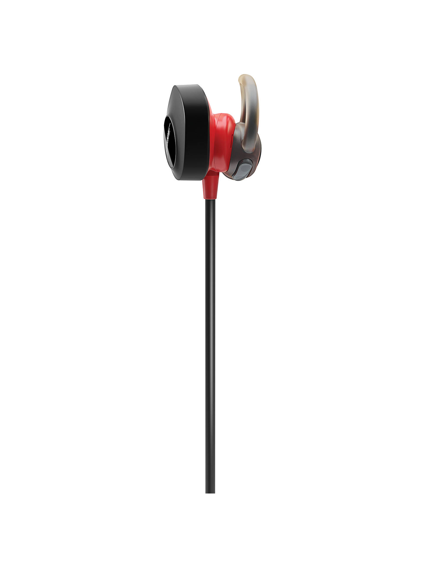 BuyBose® SoundSport™ Pulse Sweat & Weather-Resistant Wireless In-Ear Headphones with Heart Rate Sensor, Bluetooth/NFC, 3-Button In-Line Remote & Carry Case, Red/Black Online at johnlewis.com