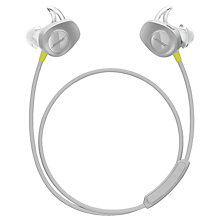 Buy Bose® SoundSport™ Sweat & Weather-Resistant Wireless In-Ear Headphones With Bluetooth/NFC, 3-Button In-Line Remote and Carry Case Online at johnlewis.com