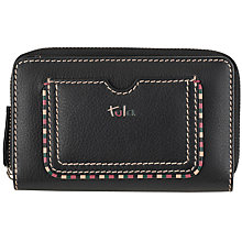 Buy Tula Mallory Leather Zip Wallet, Black Online at johnlewis.com
