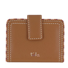 Buy Tula Mallory Leather Card Holder, Tan Online at johnlewis.com