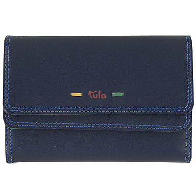 Tula Violet Leather Medium Flapover Wallet
