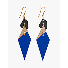 Buy Toolally Abstract Diamond Shaped Drop Earrings, Sapphire/Multi Online at johnlewis.com