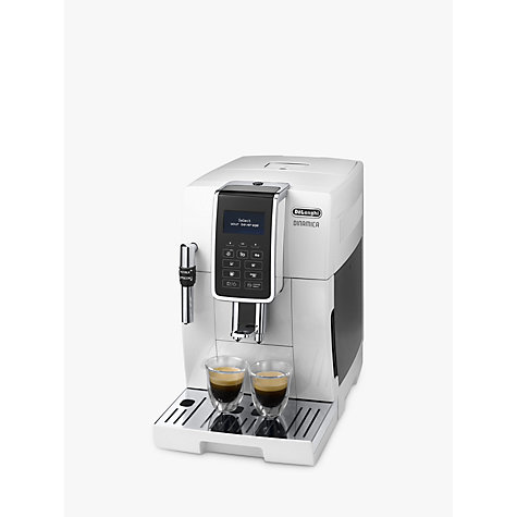 buy de 39 longhi dinamica bean to cup coffee machine white john lewis. Black Bedroom Furniture Sets. Home Design Ideas
