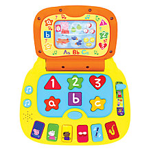 Buy Peppa Pig Laugh & Learn Laptop Toy Online at johnlewis.com