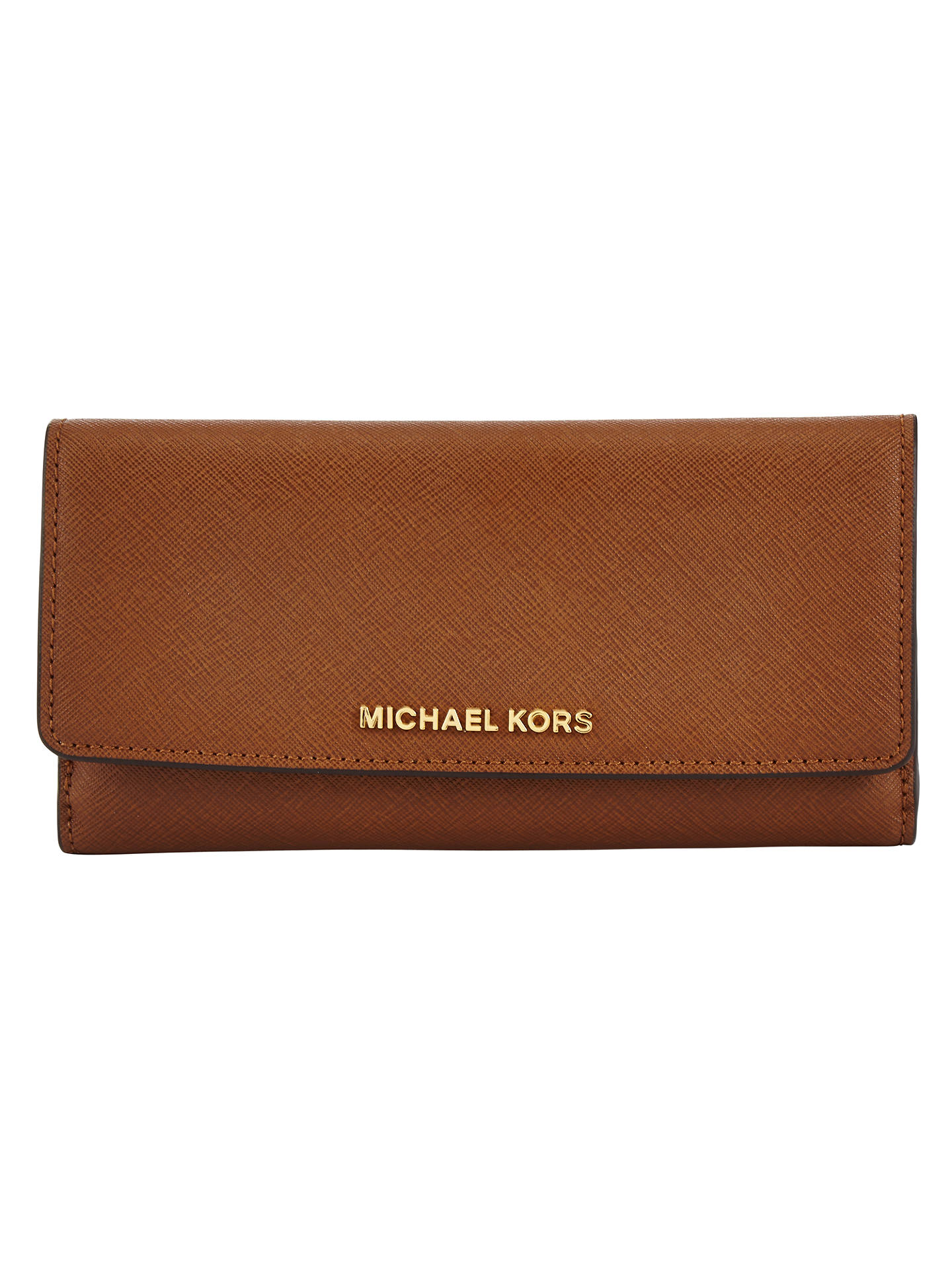 f5b5dbc9af55 Buy MICHAEL Michael Kors Jet Set Travel Flat Tri-Fold Leather Purse,  Luggage Online ...