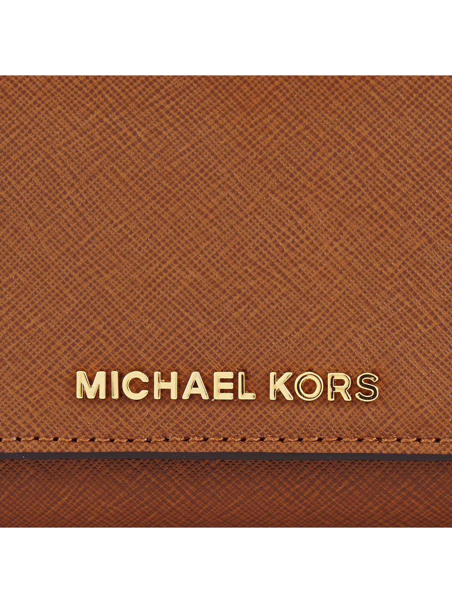 1981047ba97c ... Buy MICHAEL Michael Kors Jet Set Travel Flat Tri-Fold Leather Purse,  Luggage Online