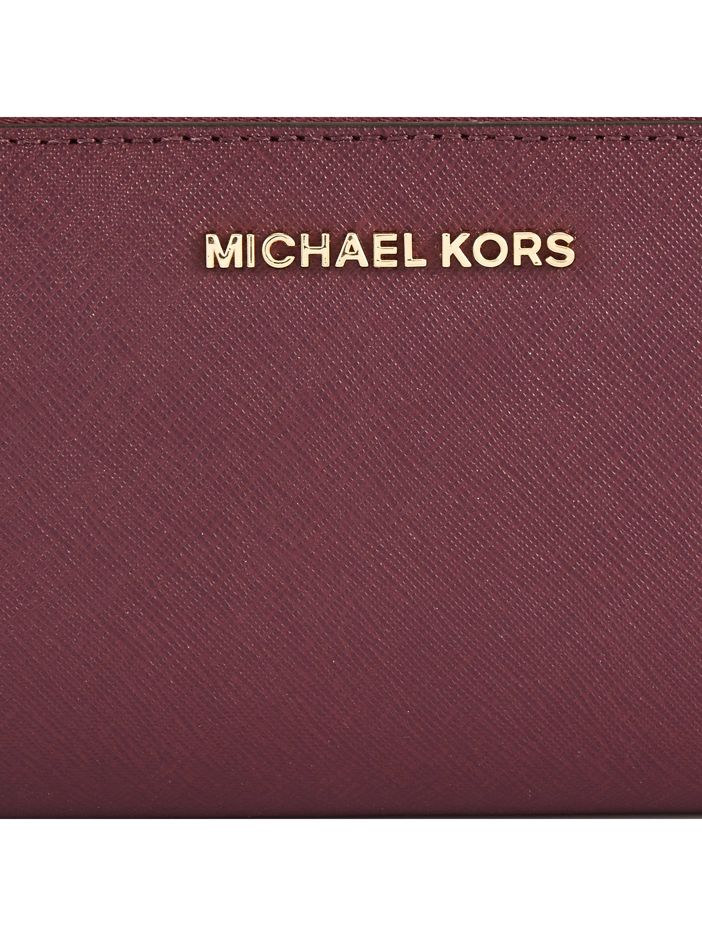 BuyMICHAEL Michael Kors Jet Set Travel Leather Continental Purse, Plum Online at johnlewis.com
