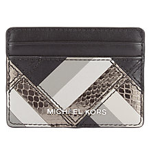 Buy MICHAEL Michael Kors Marquetry Patchwork Leather Card Case, Black Online at johnlewis.com