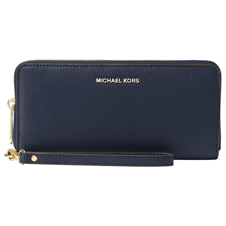 fe73f9d9d3a4 MICHAEL Michael Kors Mercer Travel Continental Leather Purse at John Lewis  & Partners