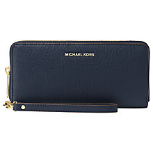 Buy MICHAEL Michael Kors Mercer Travel Continental Leather Purse Online at johnlewis.com