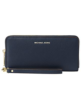 a709631c1893 MICHAEL Michael Kors Mercer Travel Continental Leather Purse