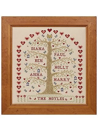 Historical Sampler Company My Family Tree Cross Stitch Kit