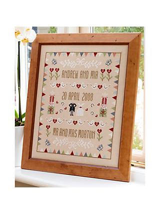 Historical Sampler Company Horseshoe Wedding Sampler Cross Stitch Kit