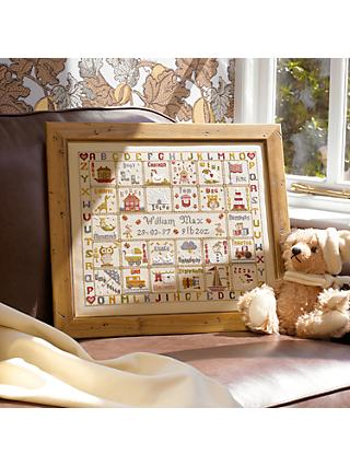 Historical Sampler Company A is For Ark Birth Cross Stitch Kit