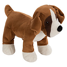Buy John Lewis Buster the Boxer Dog Plush Soft Toy, Brown/Multi, H21cm Online at johnlewis.com