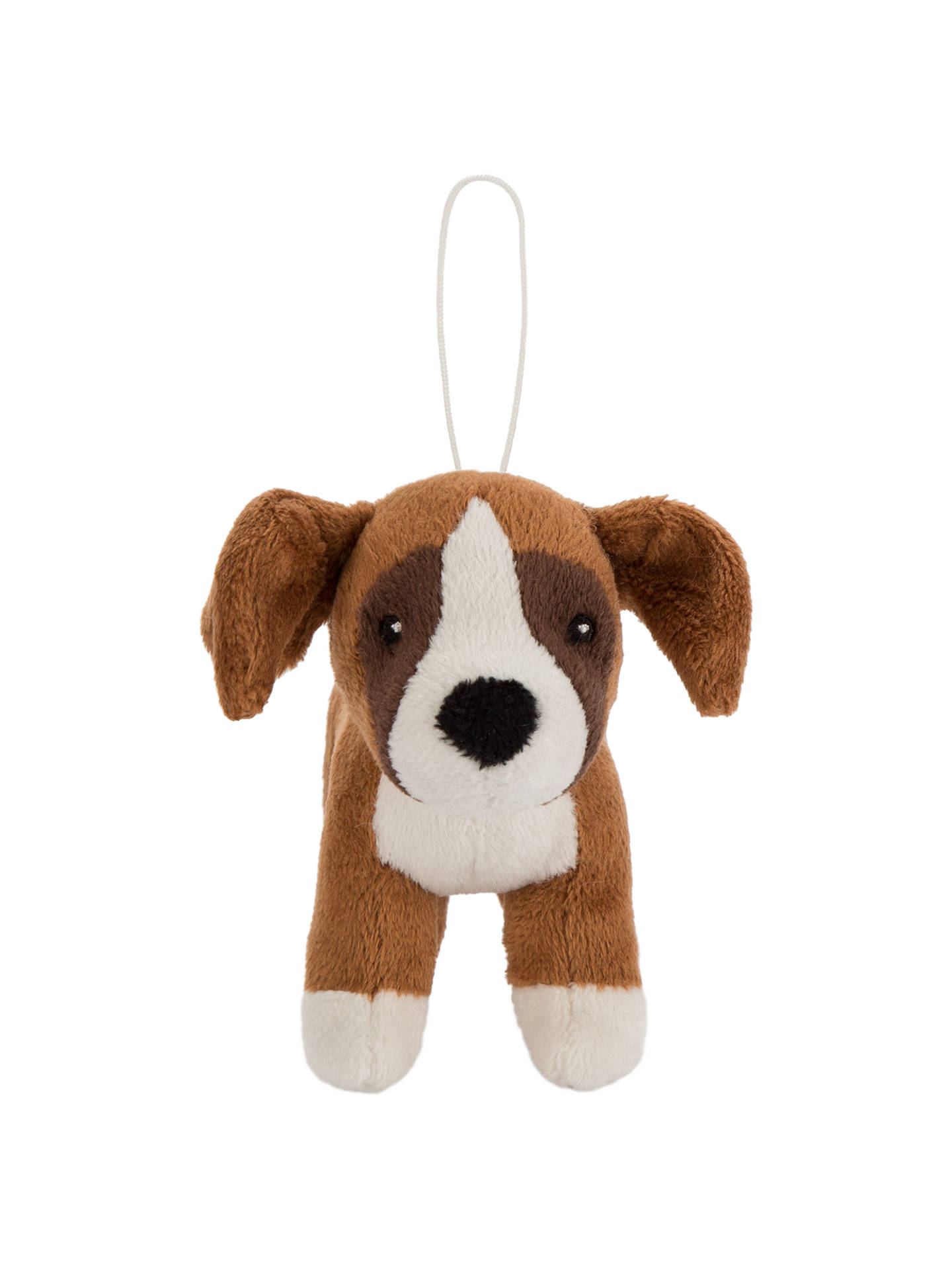BuyJohn Lewis Buster the Boxer Dog Christmas Tree Decoration, Brown, H9cm Online at johnlewis.com