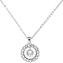 Buy Ted Baker Cadhaa Concentric Swarovski Crystal Round Pendant Necklace, Silver Online at johnlewis.com