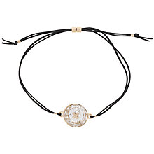 Buy Ted Baker Kora Swarovski Crystal Button Cord Bracelet, Black/Rose Gold Online at johnlewis.com