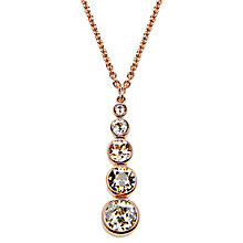 Buy Karen Millen Swarovski Teardrop Pendant Necklace Online at johnlewis.com