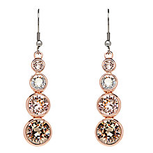 Buy Karen Millen Teardrop Swarovski Crystal Drop Earrings, Rose Gold/Silver Online at johnlewis.com