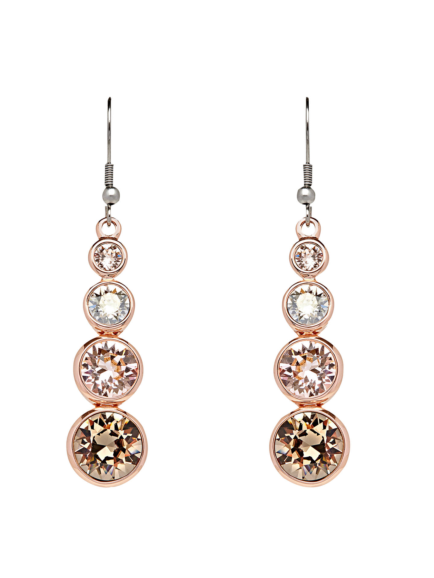 4a48a5ab136234 Buy Karen Millen Teardrop Swarovski Crystal Drop Earrings